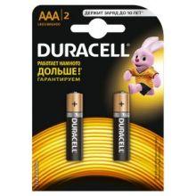 Батарея DURACELL Basic LR03-2BL, 2 шт. AAA
