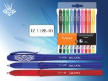 Ручка гелевая 10 цв. флуоресцентная.арт TZ 119 В-10