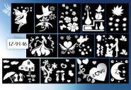 """Наклейки для декорирования """"Зеркальные"""" (в ассортименте 12 дизайнов), TUKZAR"""