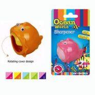 """Точилка Ocean World """"Рыбка-шар"""", 1 отверстие, с накопителем, блистер"""