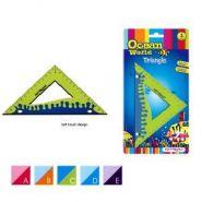 """Треугольник Ocean World """"Soft touch"""", 45°, 12см, обрезиненный корпус, блистер"""