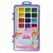 """Акварельная краска с кистью Disney """"Принцессы"""" 24 цветов (09569)"""