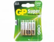 Батарея GP Super Alkaline 24A LR03, 4 шт. AAA