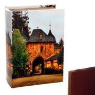 Шкатулка Книга 393594 с код.замком (искусственная кожа), L 22 W 16 H 7 см дерево, полимерные материалы